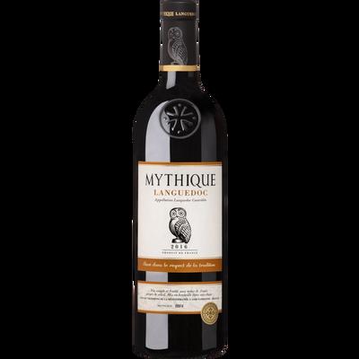 Vin rouge AOP Languedoc MYTHIQUE, bouteille de 75cl