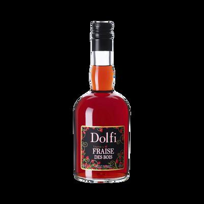 Liqueur de fraise des bois, DOLFI, 18°, bouteille de 50cl