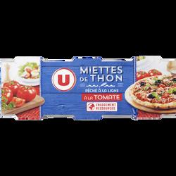 Miettes de thon tomate pêché canne U, 3 boîtes soit 240g