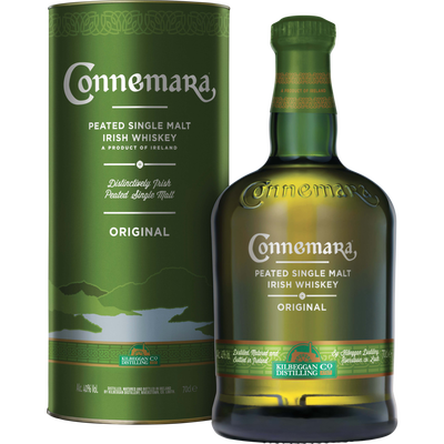 Whiskey Irish Original CONNEMARA, 40°, bouteille de 70cl + tube