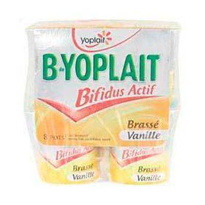 Yaourts brassés saveur vanille B-YOPLAIT, 8x125g