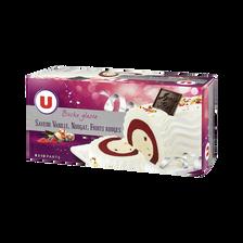 Bûche glacée parfum vanille, nougat, fruits rouges U, 547g