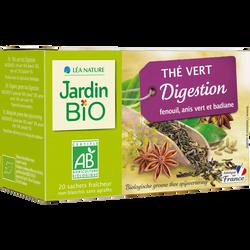 Thé vert digestion bio JARDIN BIO 30g