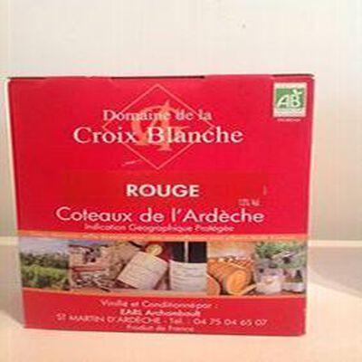 Vin rouge IGP Coteaux de l'Ardèche Domaine de la Croix Blanche 3L BIO