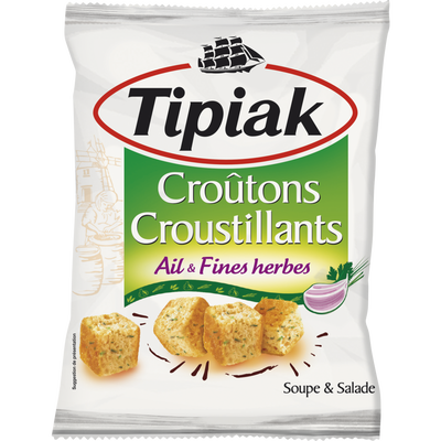 Croûtons salade ail & fines herbes TIPIAK, 100g
