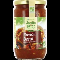 Ravioli au boeuf JARDIN BIO, bocal  en verre de 700g
