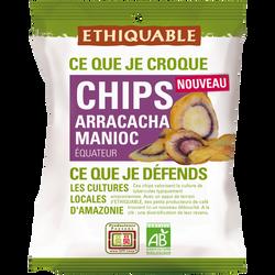 Chips arracacha manioc Equateur Bio ETHIQUABLE, 60g