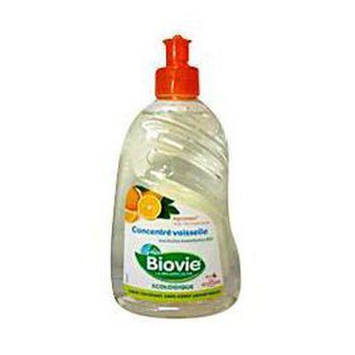 Liquide vaisselle écologique concentré parfum agrumes BIOVIE, flacon de 500ml