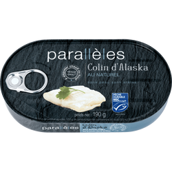 Colin d'Alaska au naturel PARALLELES, 190g