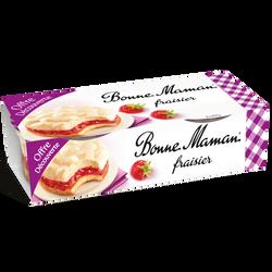 Dessert pâtissier fraisier BONNE MAMAN, 2X100g