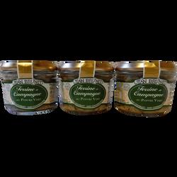 Terrine de campagne au poivre vert, JEAN BRUNET, 3x180g soit 540g