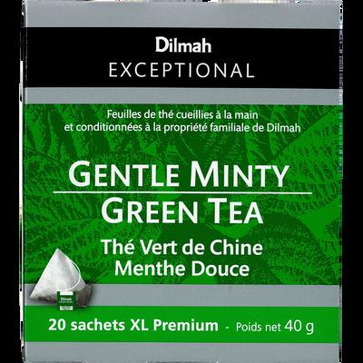 Thé vert de Chine menthe douce DILMAH, sachet de 40g