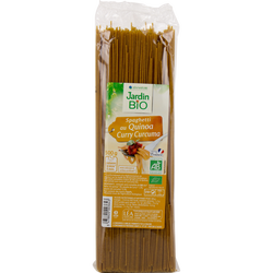 Spaghettis quinoa / curry / curcuma bio JARDIN BIO 500g