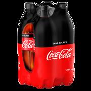 Coca Cola Coca-cola Zéro, 4 Bouteilles En Plastique De 1,75