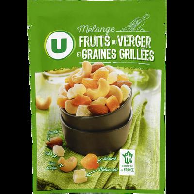 Mélange fruits du verger et graines grillées U, paquet de 120g