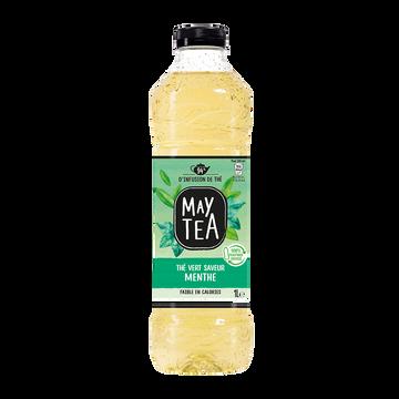 May Tea Boisson Thé Vert Infusé Maytea Parfum Menthe - Bouteille 1l