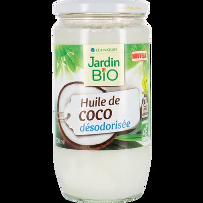 Huile coco désodo 700 ml JARDIN BIO