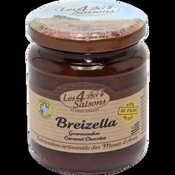 Pâte à tartiner Breizella caramel chocolat 4 SAISONS, pot de 220g