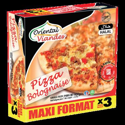 Pizza bolognaise halal surgelée ORIENTAL VIANDES, 900g