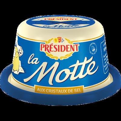 Beurre aux grains de sel de mer La Motte PRESIDENT, 80% de MG, 250g