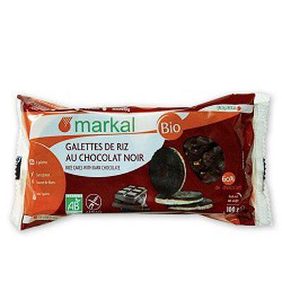 Galettes de riz au chocolat noir BIO, MARKAL, paquet de 500g