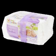 Lingettes pour bébé sensitives U TOUT PETITS, 2 paquets de 64 lingettes
