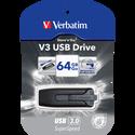 Verbatim Clé Usb  3.0 V3 64go, Noir