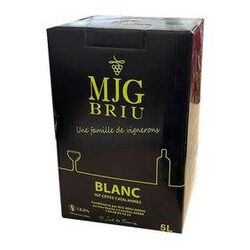 Vin Blanc MJG BRIU, IGP Côte Catalane - BIB de 5L