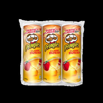 Pringles Chips Tuiles Pringles Paprika, Lot De 3x175g