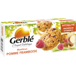 Moelleux pomme framboise GERBLE, x6, 138g