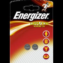 Piles Energizer, miniatureature lr44/a76, 2 unités