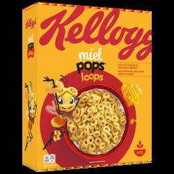 Céréales miel pops Cracks KELLOGG'S, paquet de 400g
