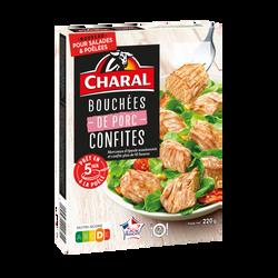 Bouchées confites porc, CHARAL, France, Barquette 220g