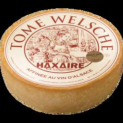 Tome welshe lait pasteurisé 28%MG au pinot gris d'Alsace