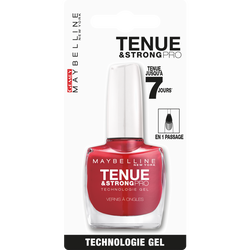 "Vernis à ongles ""Tenue et strong"" n°06 rouge profond - blister MAYBELLINE"