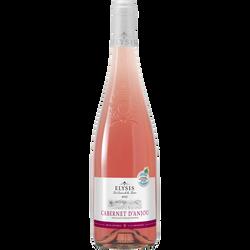 Vin rosé AOP Cabernet d'Anjou Elysis, 75cl