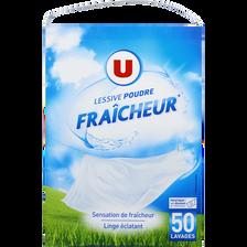 Lessive poudre parfum fraîcheur U 50 lavages 2,750kg