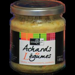 Achards de légumes GOURMETISS, bocal de 190g