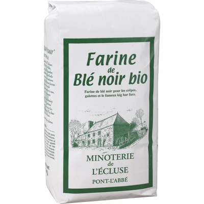 Farine de blé noir biologique MINOTERIE DE L'ECLUSE, 1kg