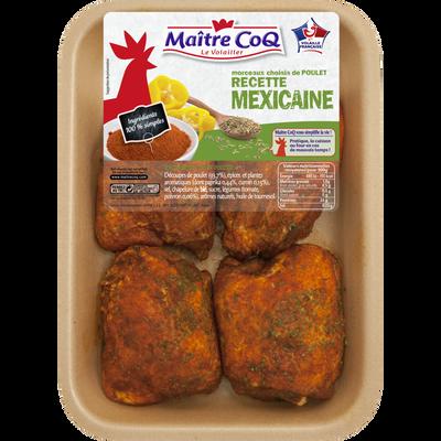 Haut cuisse poulet déjointé Mexicain, MAITRE COQ, barquette, 500g