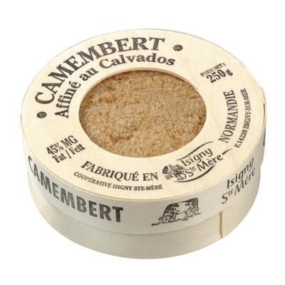 Camembert au lait microfitré affiné au Calvados ISIGNY STE MERE, 22% de MG, 250g