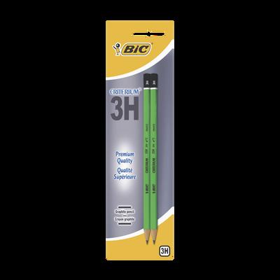 2 crayons graphite Critérium 550 BIC, 3H