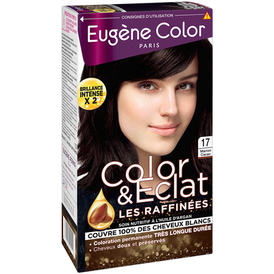 Coloration permanente marron cacao n°17 EUGÈNE COLOR