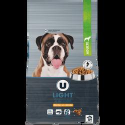 Croquettes premium pour chien light riches en dinde U, paquet de 4kg