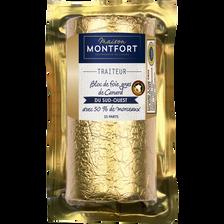 Bloc de foie gras de canard du Sud-Ouest 50% morceaux, IGP
