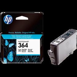Cartouche d'encre HP pour imprimante, CB317EE photo noir n°364, sous blister