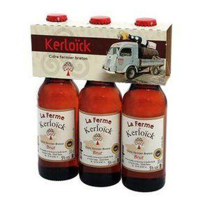 KERLOICK cidre fermier breton 3 x 33 cl