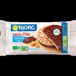 Galette de maïs bio au chocolat au lait BJORG, 100g