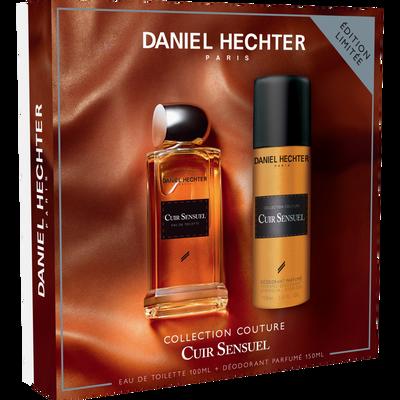 Coffret cuir sensuel eau de toilette DANIEL HECHTER, 100ml+déodorant,150ml