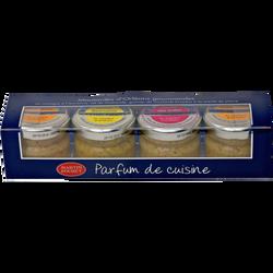 Coffret de moutardes MARTIN POURET, 4 pots, 25g